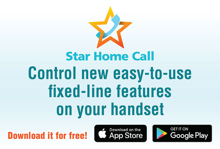 Star Home Call Control new easy-to-use fixed-line features on your handset