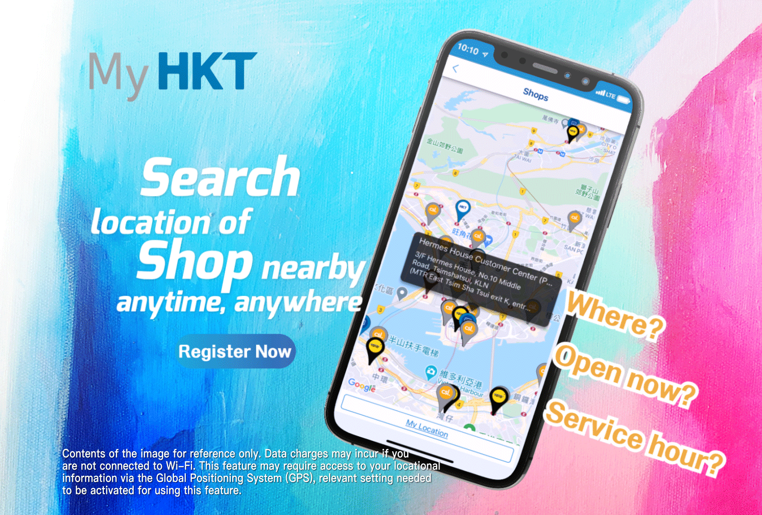 My HKT: Search location of Shop nearby anytime, anywhere