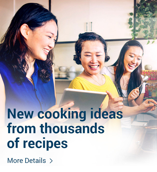 New cooking ideas from thousands of recipes More details >