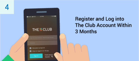 You must have registered as a member of The Club and logged into your The Club account within three months after installation of your designated eye3 service in order to receive your Club SIM local data